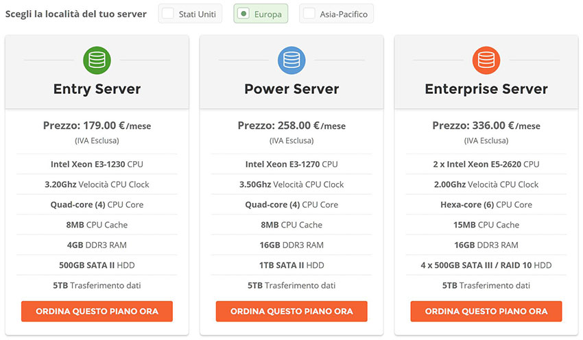 server dedicati siteground hosting